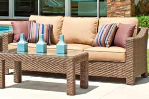 Telescope Lake Shore Wicker Outdoor Couch