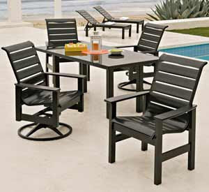 Telescope Leeward Outdoor Dining Set