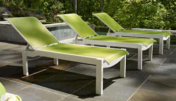 Telescope Leeward Polymer Chaise Loungers