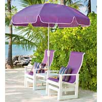 Telescope Leeward Polymer Patio Chair with Umbrella