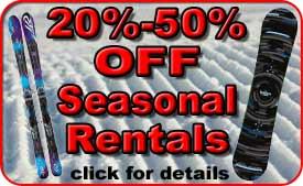 Discounted Seasonal Ski & Snowboard Rentals