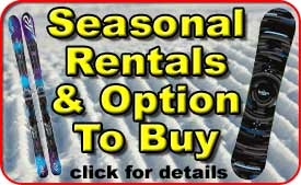 Pelican Seasonal Snowboard Rentals & Option To Buy