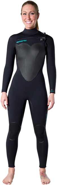 Hyperflex Voodoo Front Zip Full Wet Suit Womens