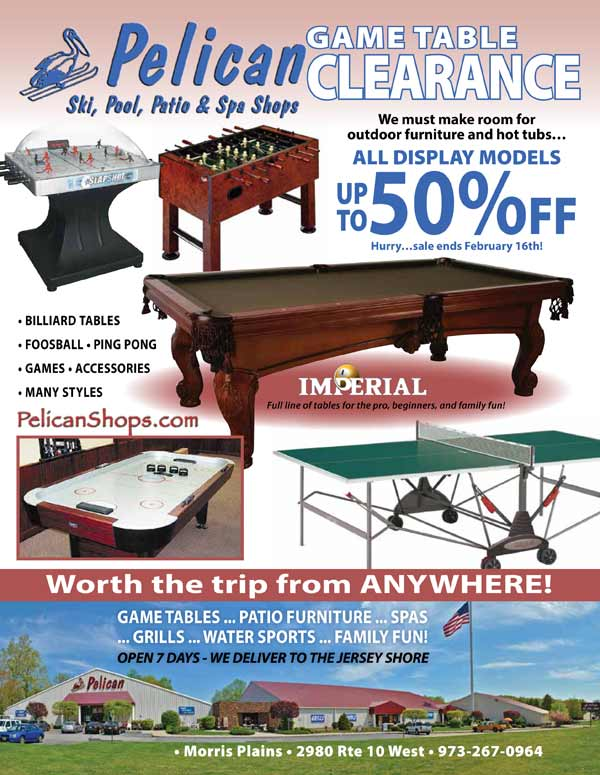Game Table Clearance, Pool Tables, Ping Pong Tables, Foosball