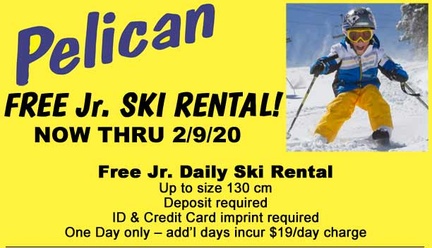 FREE Jr. Rentals!  This weekend Only!