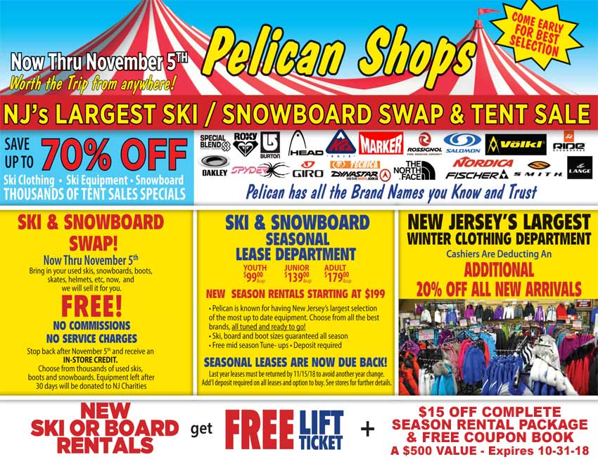 Pelican Ski & Snowboard Tent and Swap Sale