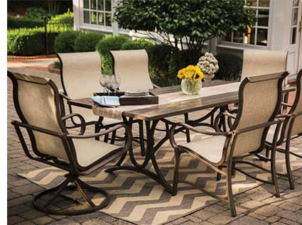 Agio Kendall Patio Sling Dining Set