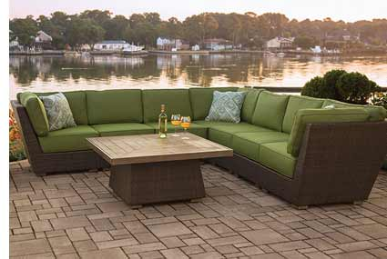Agio Newport Beach Patio Sectional Couch