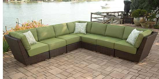 Agio Newport Beach Patio Sectional Sofa