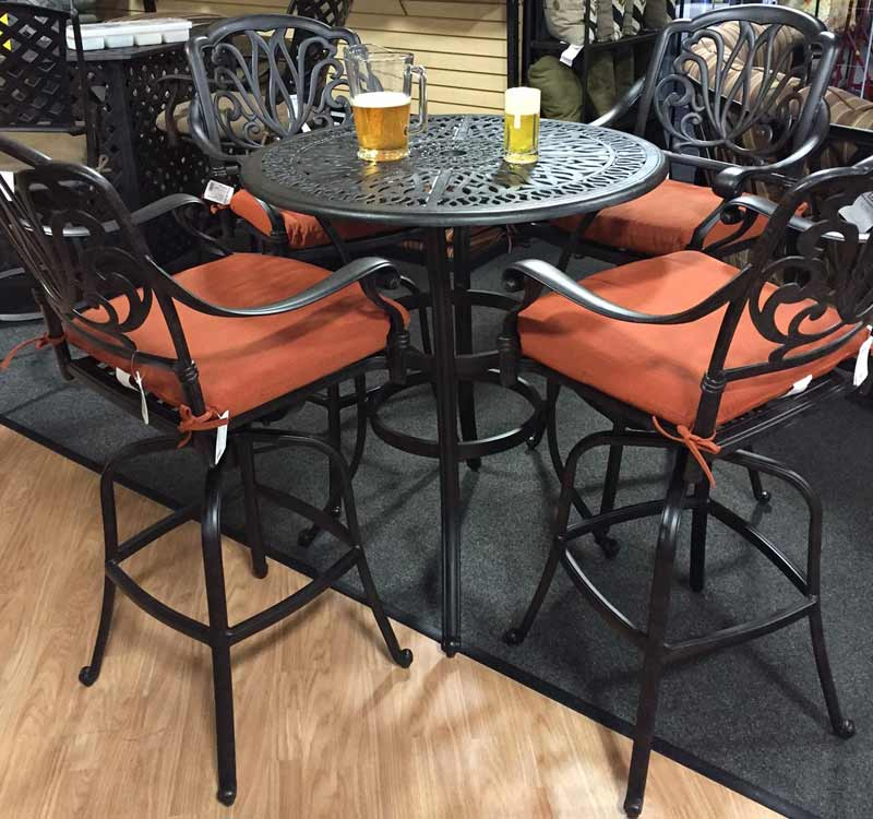 Atlas Cadence Bar Height Hi Dining Patio Set