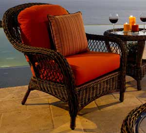 North Cape Berkshire Wicker Patio Chair