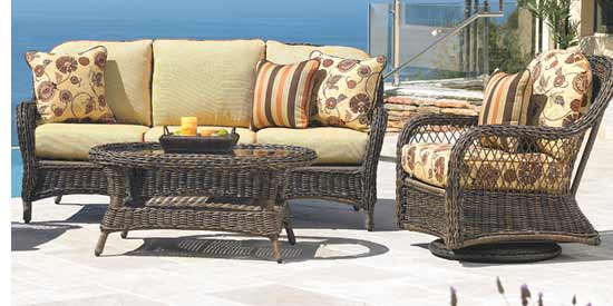 North Cape Berkshire Wicker Couch