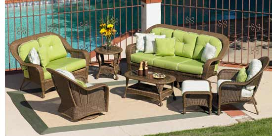 North Cape Winward Wicker Outdoor Living Room