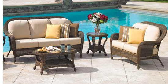North Cape Wyndham Wicker Patio Set