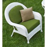 North Cape Wyndham White Wicker Patio Chair