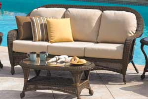 North Cape Wyndham Wicker Outdoor Couch