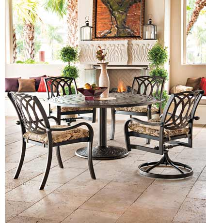 Telescope Ocala Patio Furniture Iron Set