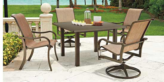 Telescope Ocala Patio Furniture Woven Dining Set