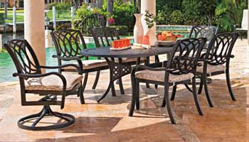 Telescope Ocala Patio Furniture 6 Seat Dining Set