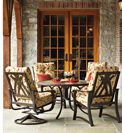 Telescope Villa Cushion Patio Dining Furniture Set