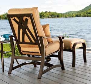 Telescope Villa Cushion Patio Chair & Ottoman