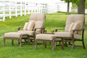 Telescope Villa Cushion Patio Lounging Chairs & Ottomans
