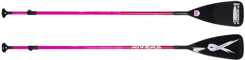Riviera Stand For The Cure Adjustable Carbon Fiber SUP Paddle