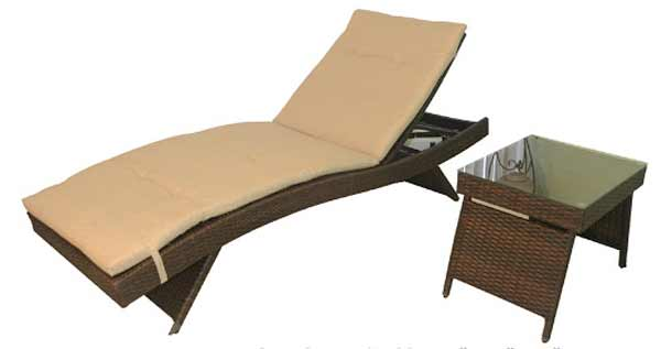 DWL Wicker Chaise Lounge