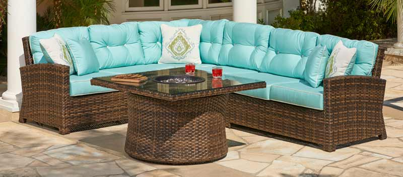 Merveilleux North Cape Lakeside Wicker Outdoor Sectional Sofa ...