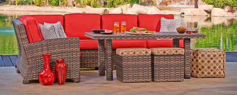 North Cape Lakeside Wicker Outdoor Sectional Sofa North Cape Lakeside  Wicker Outdoor Patio Sets