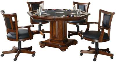 2 in 1 Poker Table with Chairs