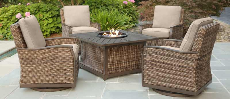 Agio Trenton Fire Pit Patio Set
