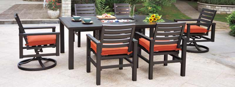 Hanamint Sherwood 6 Seat Patio Dining Set