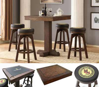 NJ Ball & Claw Turned Pedestal Pub Table for sale
