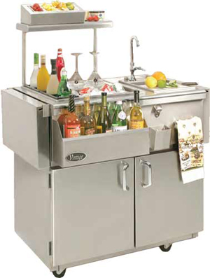 Vintage 30' Cart Bartending Center