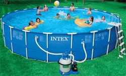 Metal Frame Above Ground Pools by Intex