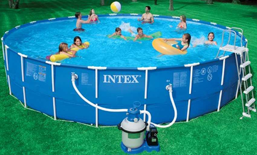 Intex Metal Frame Above Ground Swimming Pool