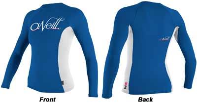 Oneill Skins Long-Sleeve Crew Women's Shirt