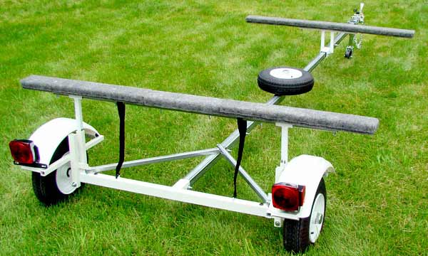 T2000 2 or 3 Place Canoe & Kayak Trailer