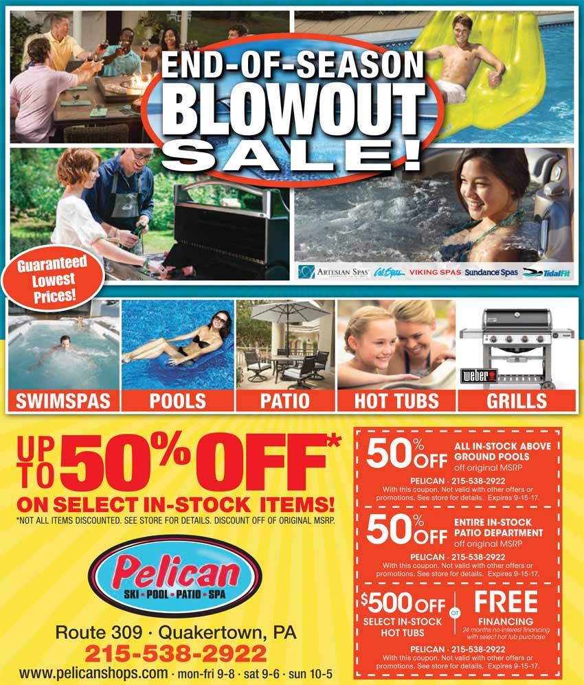Pelican Pre Season Patio Sale 2017